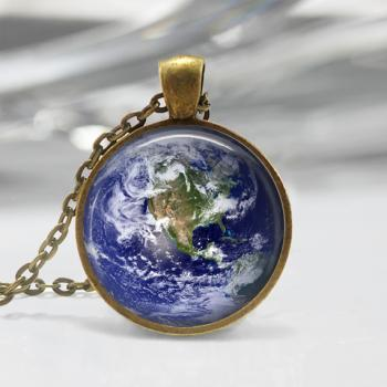 Earth Necklace Solar System Pendant